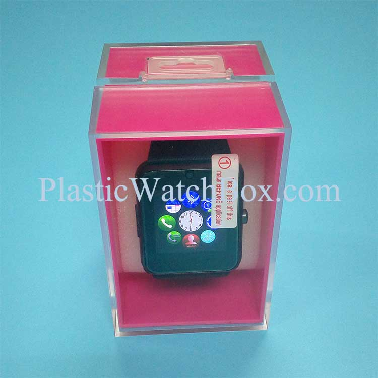 New Classic Smartwatch Candy Color OEM Display Injection Molding Crystal Box SWB-6043